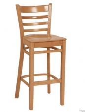 Devon Wooden High Stool in Natural